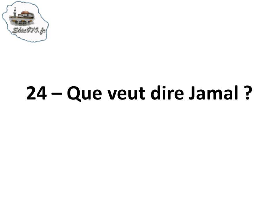 24 – Que veut dire Jamal ?