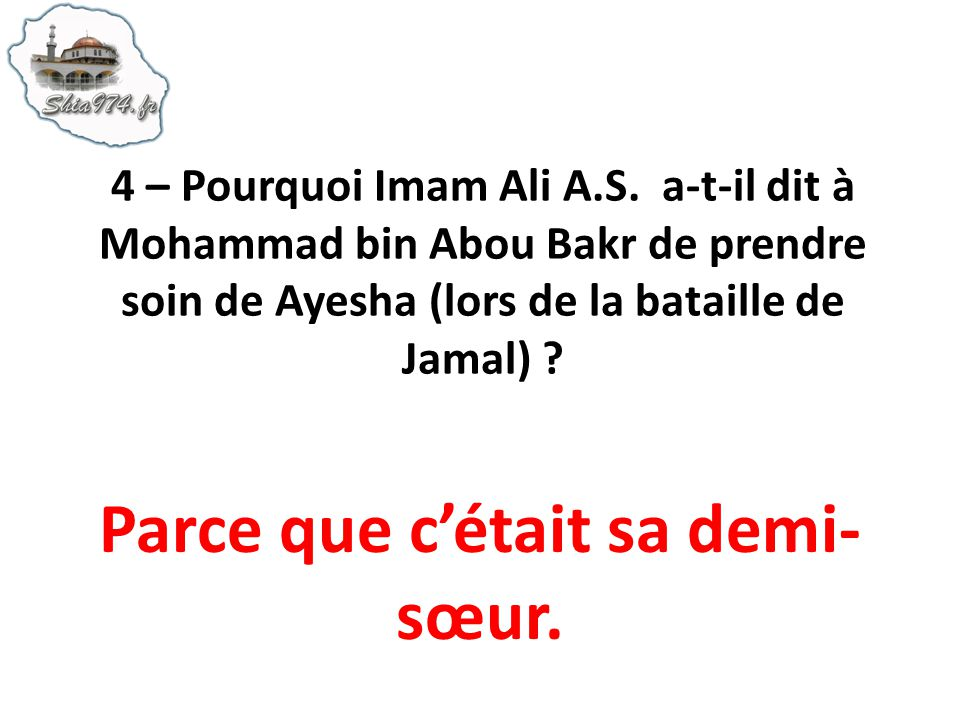 55 – Imam Ali A.S. envoya Jarir en Syrie pour régler les choses à lamiable. Quarriva-t-il à Jarir ?