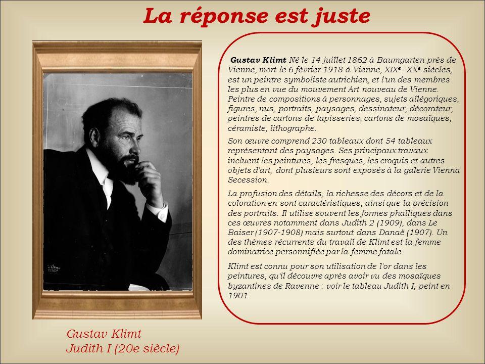 La réponse est fausse Back Amedeo ModiglianiPiet MondrianGustav Klimt