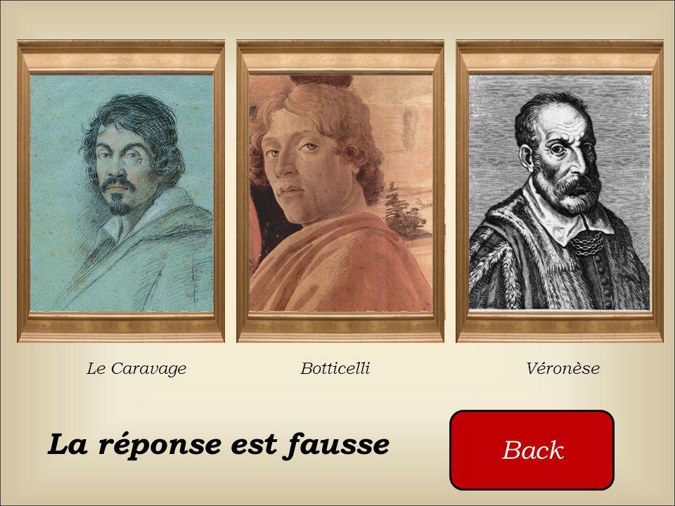 Qui a peint ce tableau ? Le Caravage Botticelli Véronèse Cliquez sur les boutons rouges
