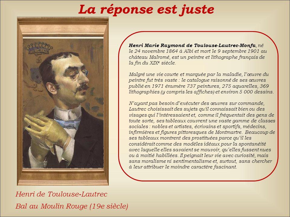 La réponse est fausse Back Alexandre-Gabriel DecampsGeorges BraqueHenri de Toulouse-Lautrec