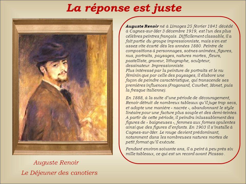 La réponse est fausse Back Claude MonetAuguste RenoirÉdouard Manet