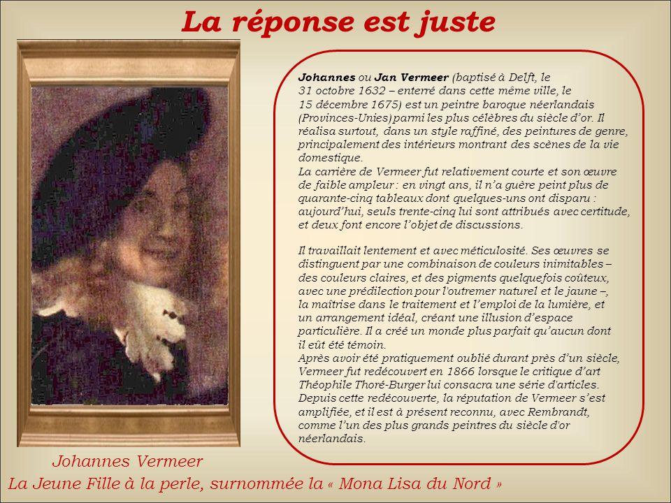 Johannes Vermeer La réponse est fausse Back Élisabeth Vigée Le BrunJean-Baptiste Greuze