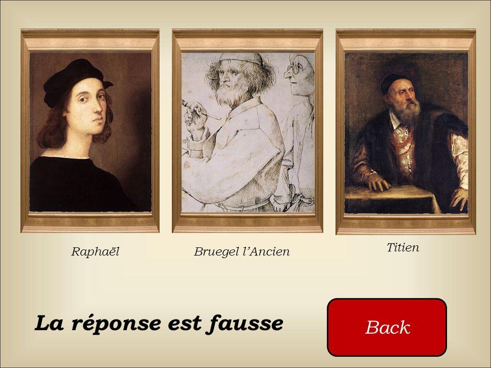 Qui a peint ce tableau ? Raphaël Bruegel lAncien Titien Cliquez sur les boutons rouges
