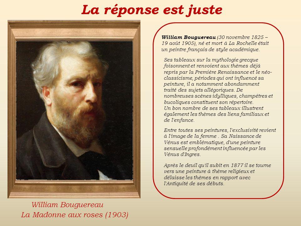 La réponse est fausse Back Eugène DelacroixDante Gabriel RosettiWilliam Bouguereau