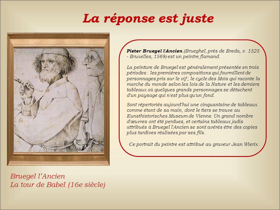 La réponse est fausse Back RaphaëlBruegel lAncien Titien