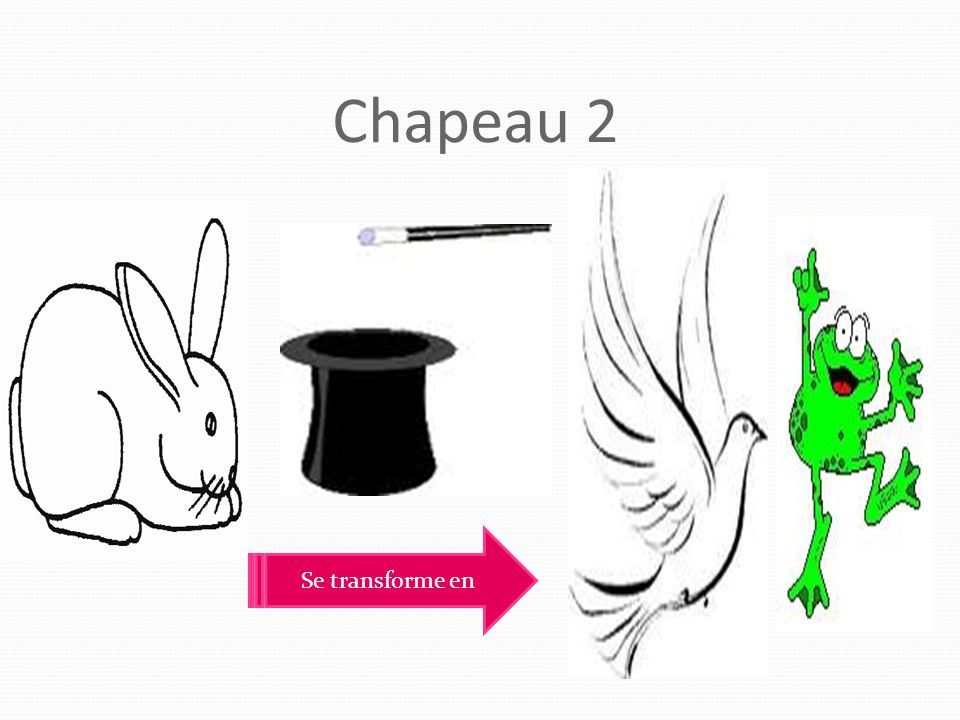 Chapeau 2 Se transforme en
