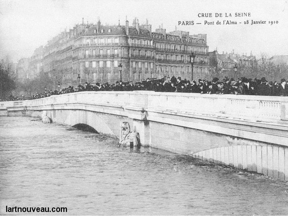 Bain des chevaux en 1900 – pont de Sully