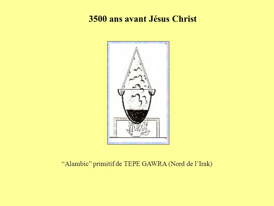 Alambic primitif de TEPE GAWRA (Nord de lIrak) 3500 ans avant Jésus Christ