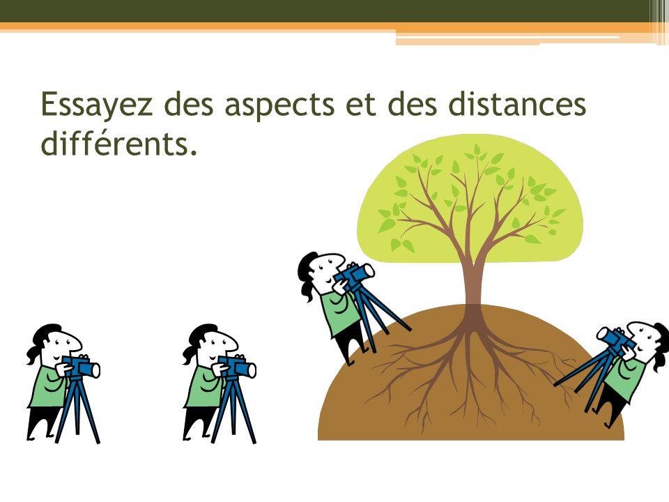 Essayez des aspects et des distances différents.