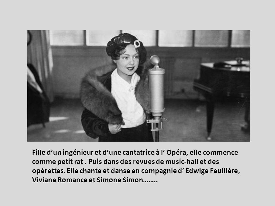 Second rôle dans la mémoire des cinéphiles. Elle a tourné avec les metteurs en scène : Marcel Carné dans Hôtel du Nord (1938). Max Ophuls dans Le Plai