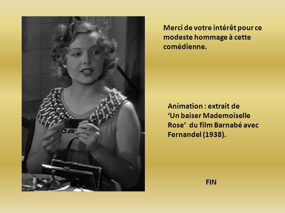 Elle débute à l écran en 1928 dans L amoureuse Aventure Et rencontre Carné et Renoir pour le rôle de La règle du Jeu Récemment vue dans : 1.2.3 soleil