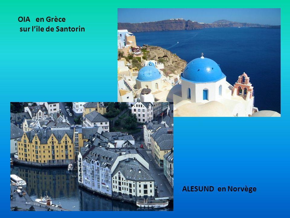 OIA en Grèce sur lile de Santorin ALESUND en Norvège