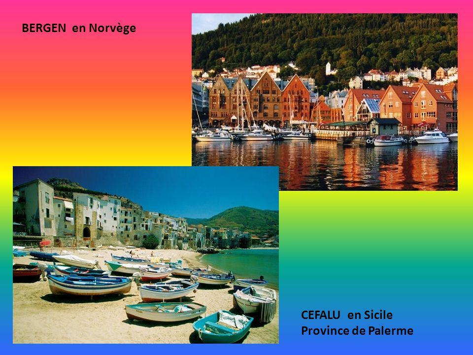 BERGEN en Norvège CEFALU en Sicile Province de Palerme