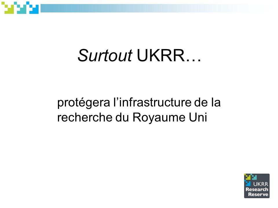 Surtout UKRR… protégera linfrastructure de la recherche du Royaume Uni