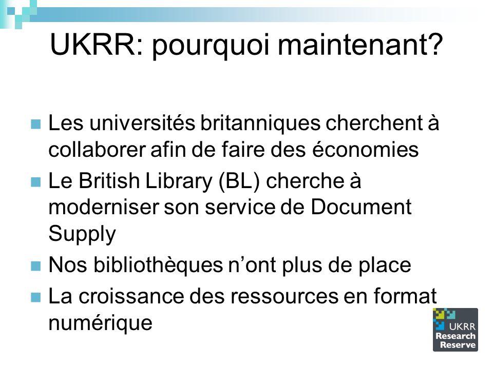 UKRR: pourquoi maintenant.