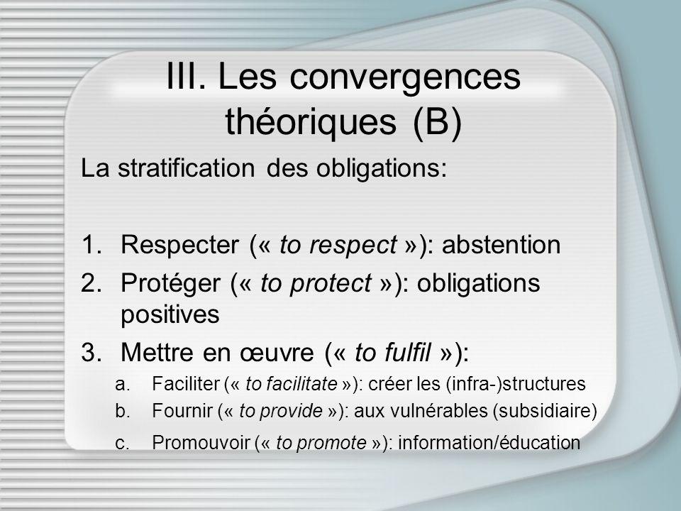 IV.Les convergences pratiques (A) Application de la théorie des strates au modèle européen: 1.