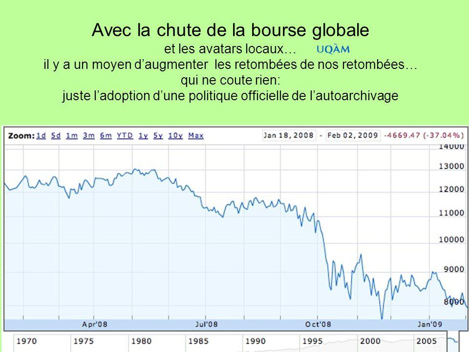 Avec la chute de la bourse globale et les avatars locaux… il y a un moyen daugmenter les retombées de nos retombées… qui ne coute rien: juste ladoptio