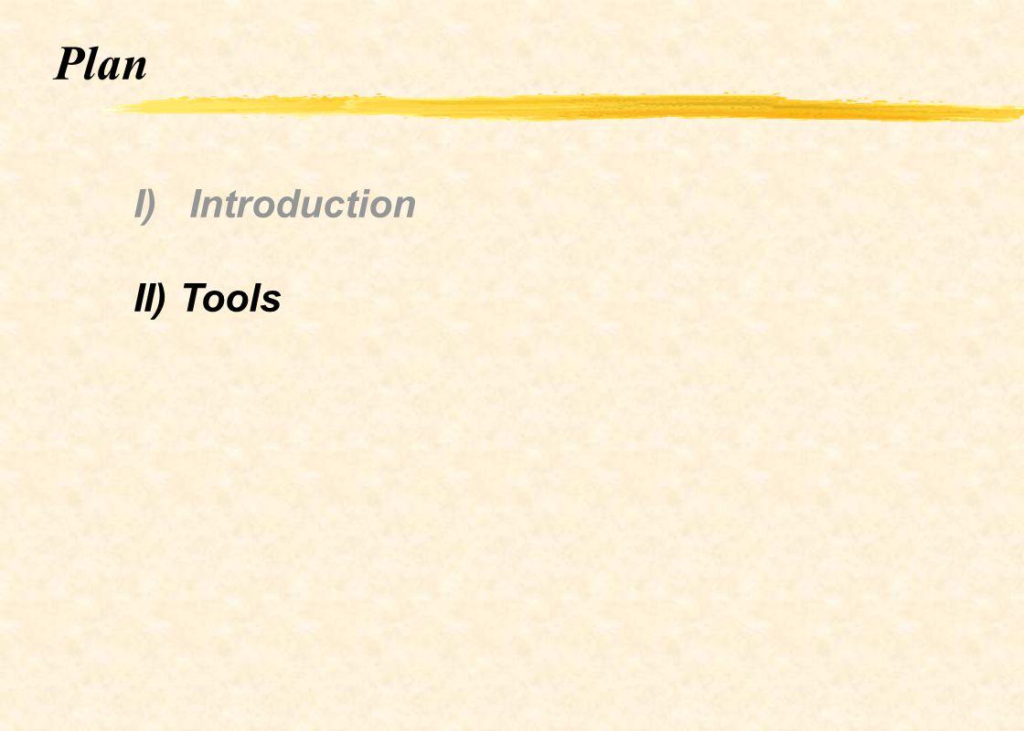Plan I) Introduction II) Tools