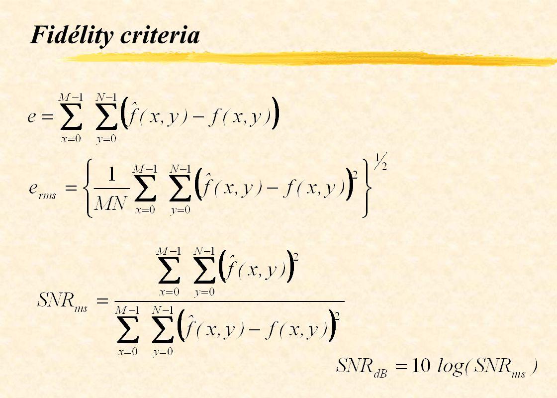 Fidélity criteria