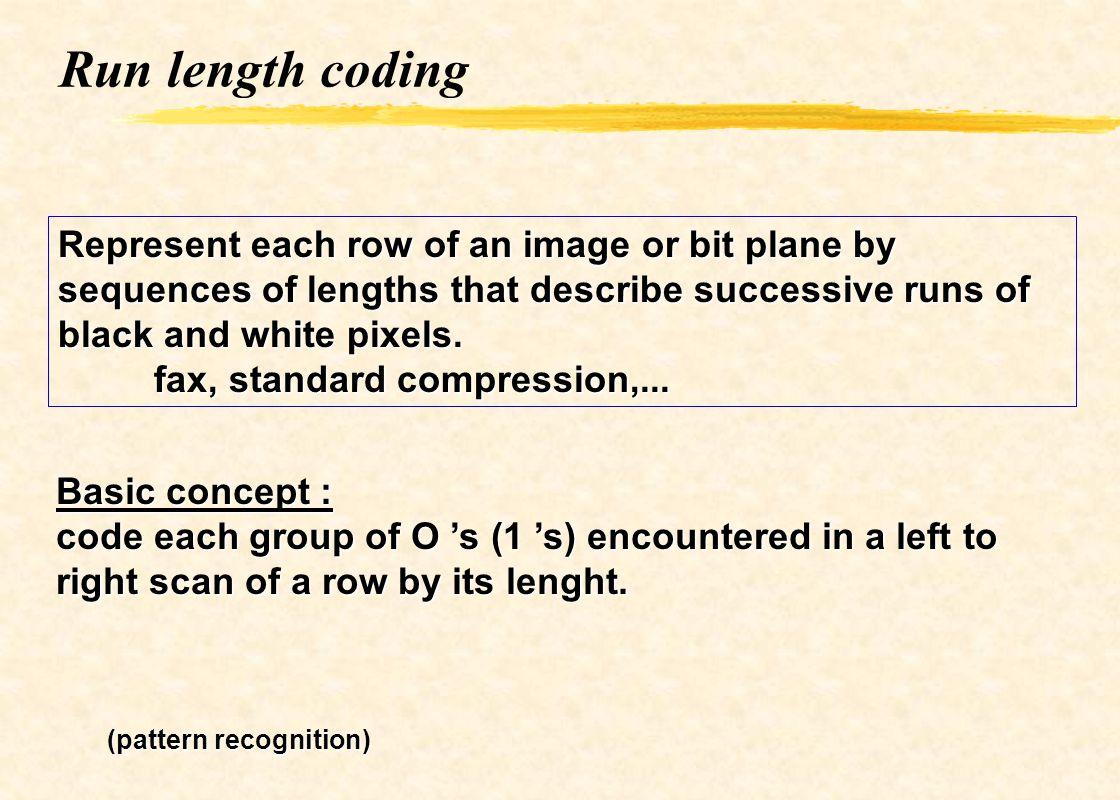 Rlc : example 5 5 10 10 10 6 6 6 6 6 6 18 9 2 5 3 10 6 6 1 18 1 9 Original data Compressed data 13 bytes 10 bytes (10/13=0.77)