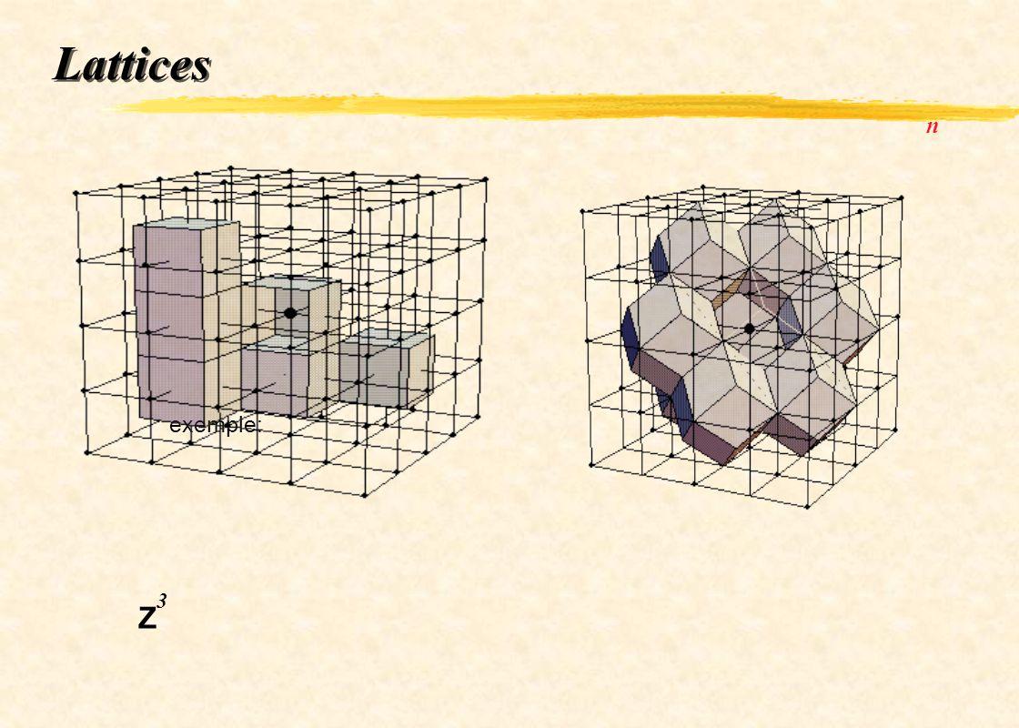 Lattices exemple: n Z 3