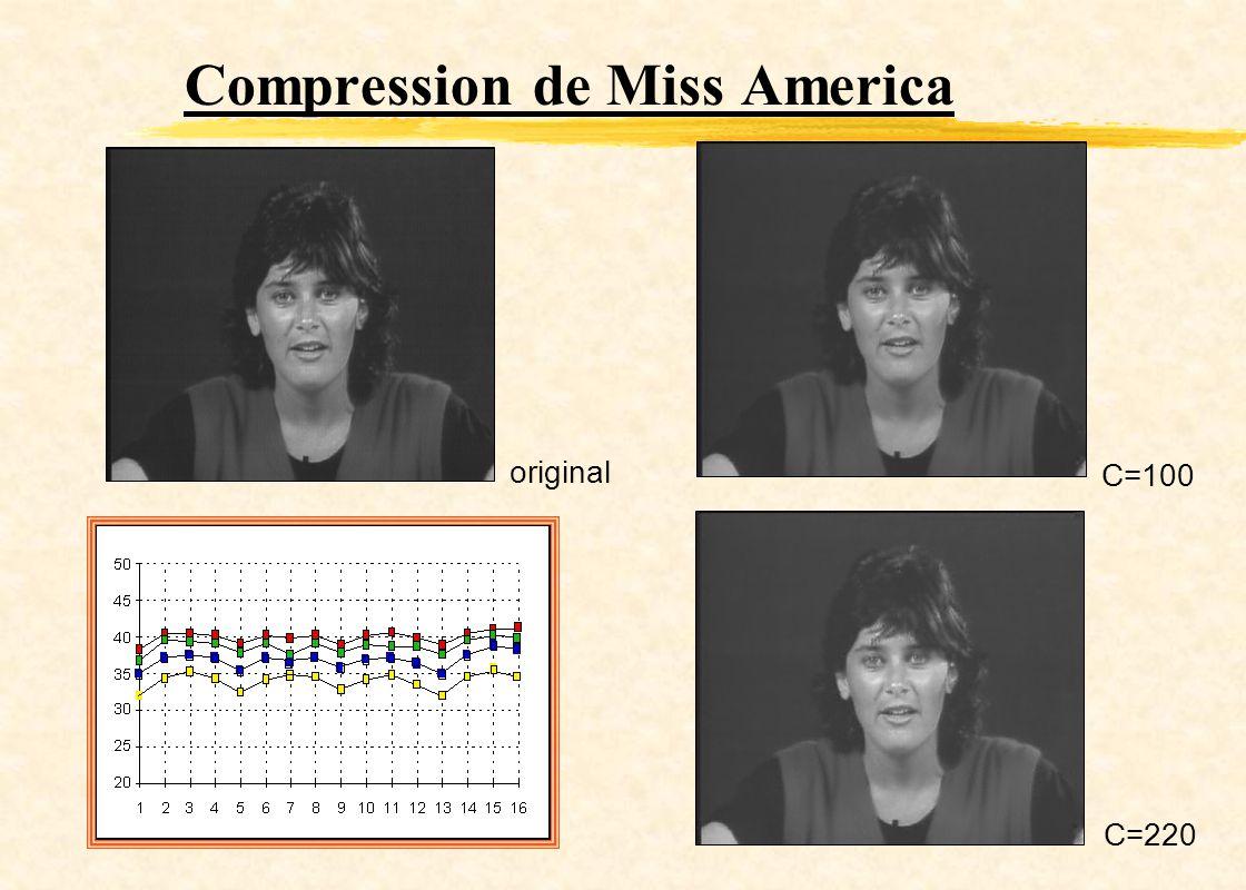 Compression de Miss America C=100 C=220 original