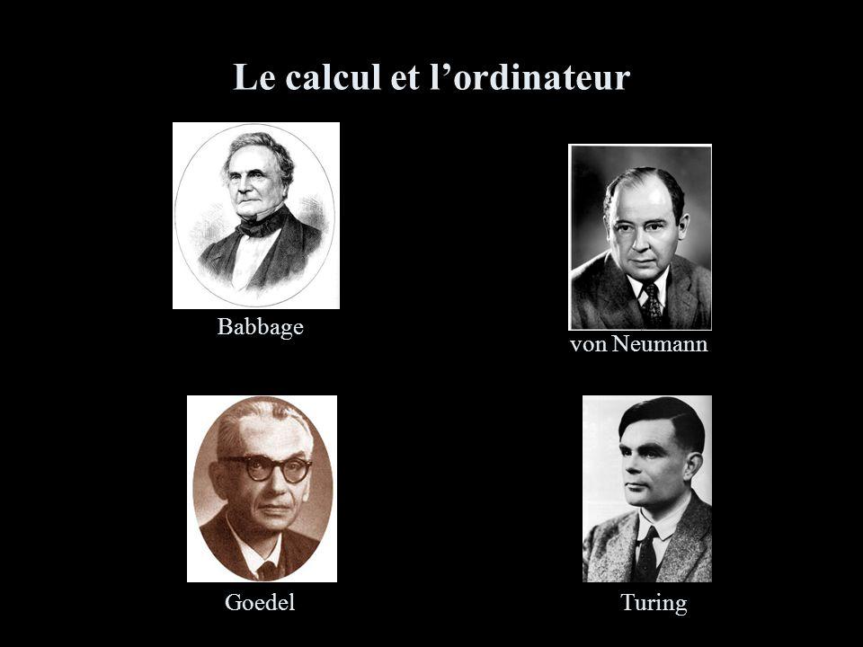 Le calcul et lordinateur TuringGoedel von Neumann Babbage