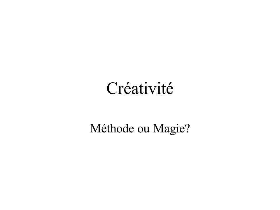 Créativité Méthode ou Magie?