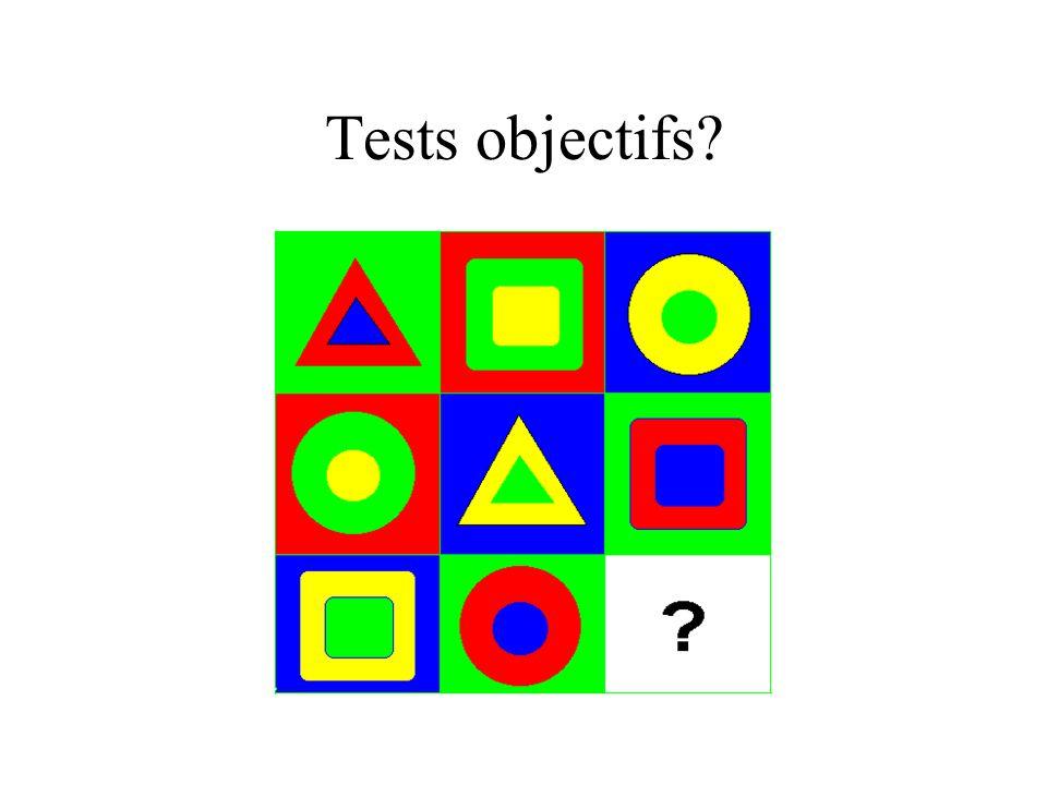 Tests objectifs?
