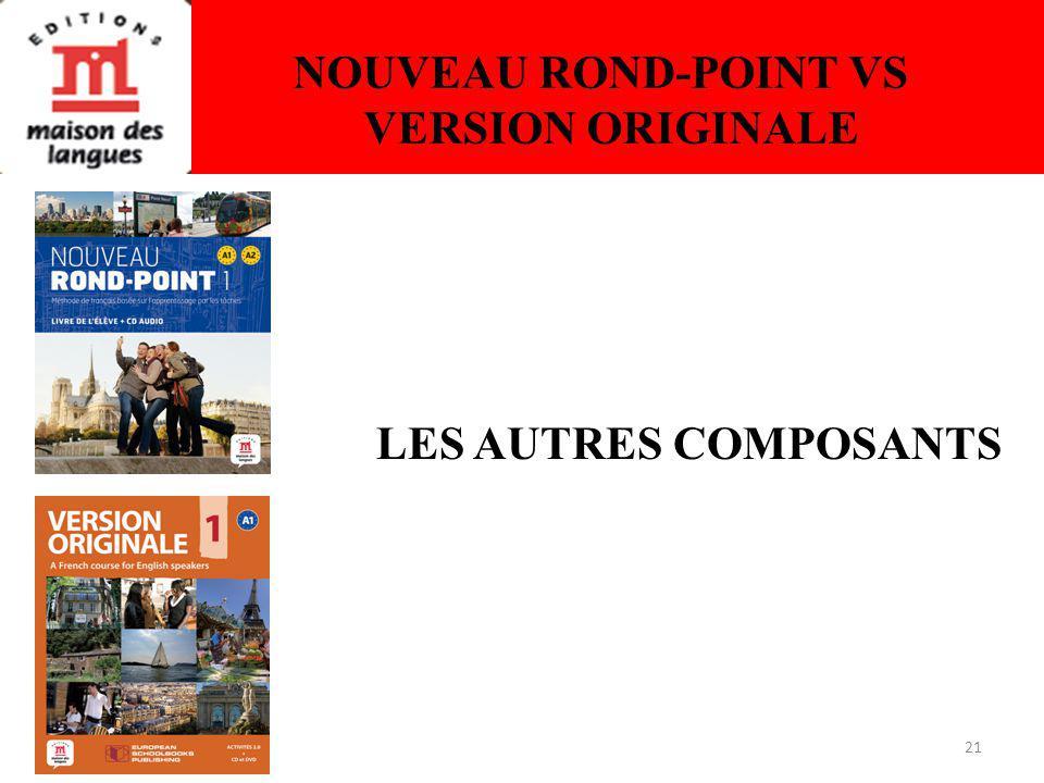 21 NOUVEAU ROND-POINT VS VERSION ORIGINALE LES AUTRES COMPOSANTS