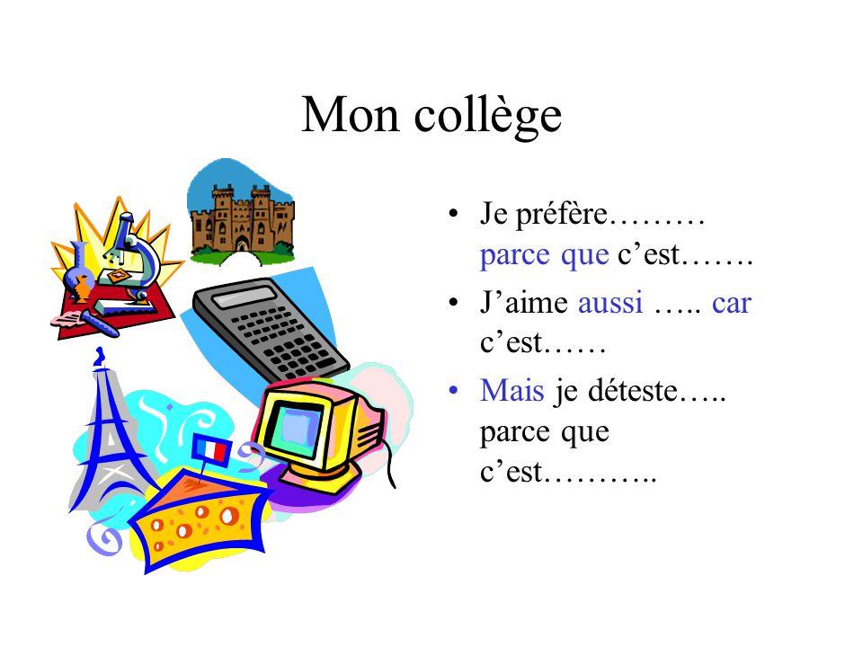 Mon collège Jai ………… cinq / six / sept / huit cours par jour.