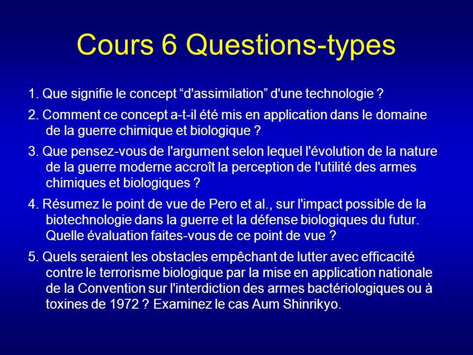 Cours 6 Questions-types 1. Que signifie le concept d'assimilation d'une technologie ? 2. Comment ce concept a-t-il été mis en application dans le doma