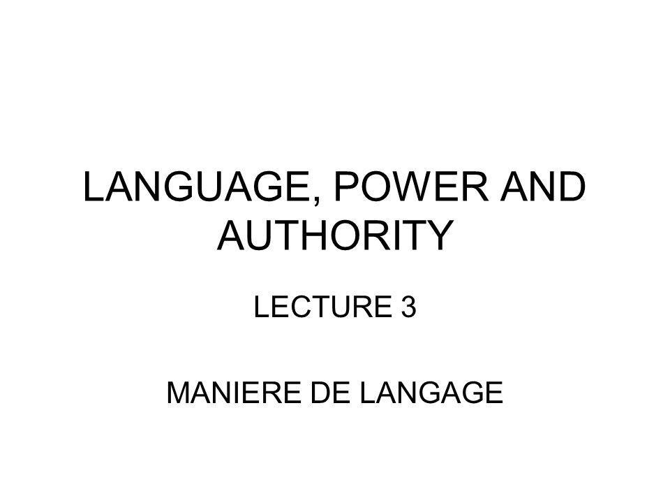 Mistakes in Maniere de langage En ce maniere …..Me ditez vous …..