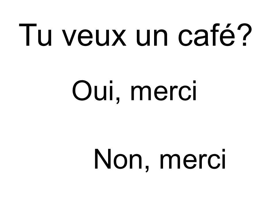 Tu veux un café Non, merci Oui, merci