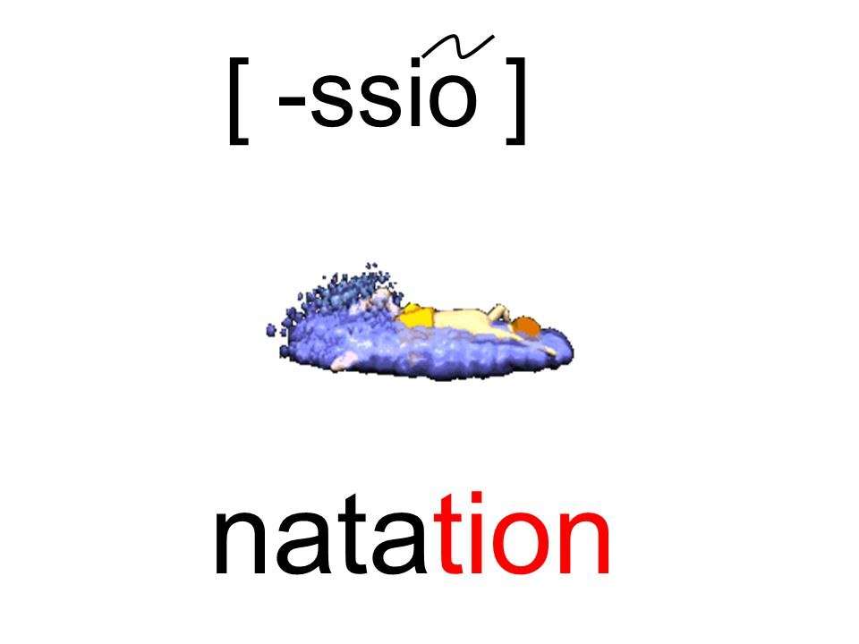 natation [ -ssio ]