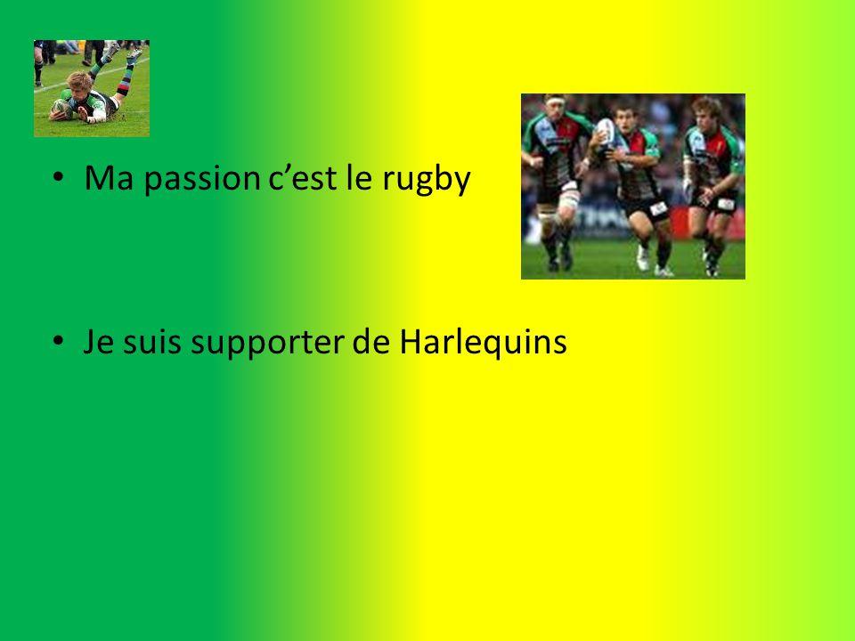Ma passion cest le rugby Je suis supporter de Harlequins