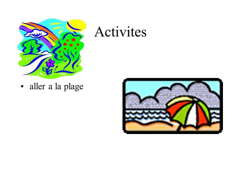 Activites aller a la piscine