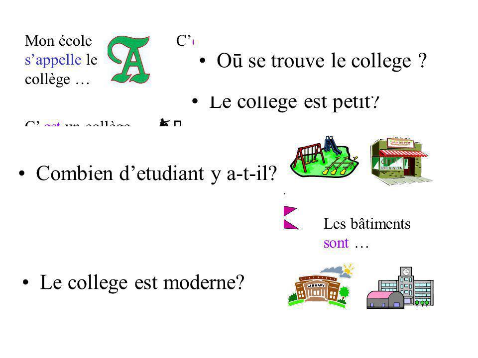 le collège C est un collège … / de / de … pour des de … à … ans.