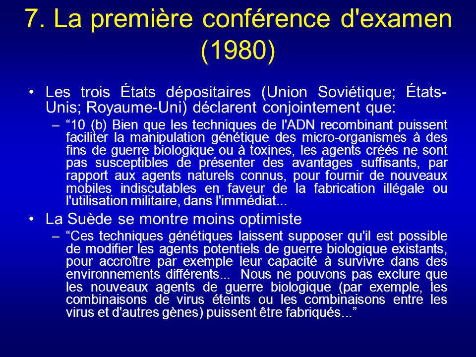 (Slide16) United Nations (2001) Background Paper on New Scientific and Technological Developments relevant to the Convention on the Prohibition of the Development, Production and Stockpiling of Bacteriological (Biological) and Toxin Weapons and on their Destruction, BWC/CONF.V/4/Add.1 [Online] 26 October [Cited 15 September 2008].