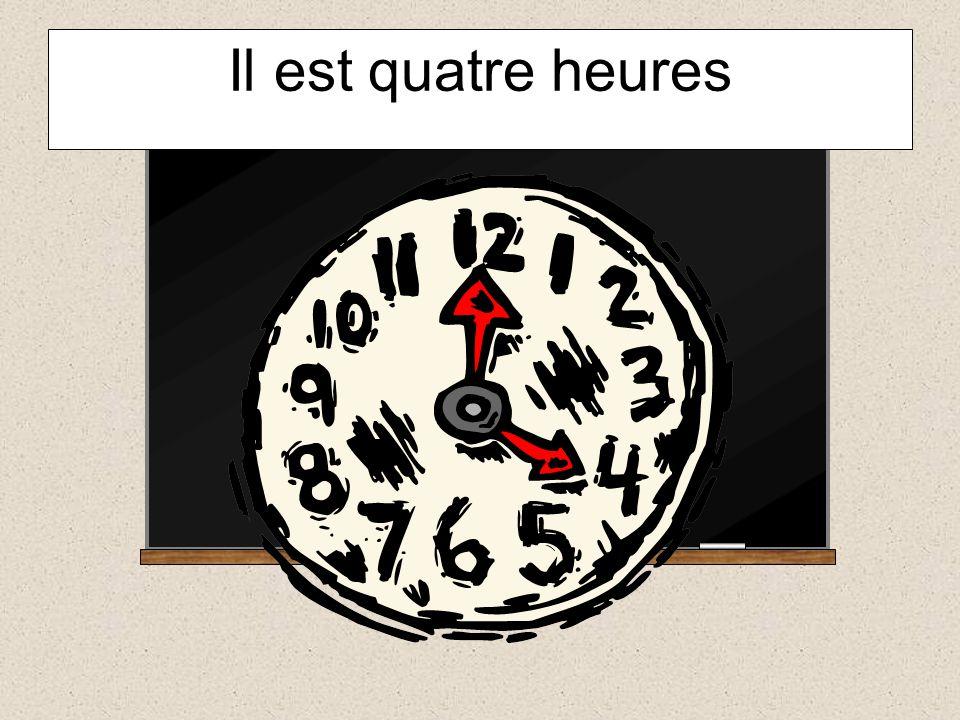 Il est huit heures vingt 8.20 =