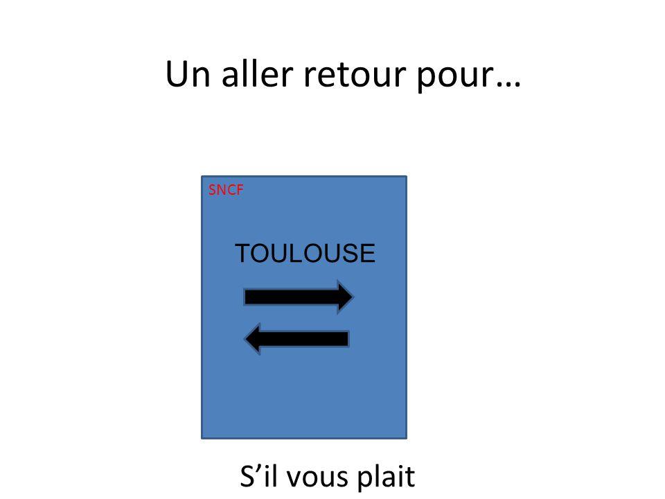 SNCF TOULOUSE Un aller retour pour… Sil vous plait