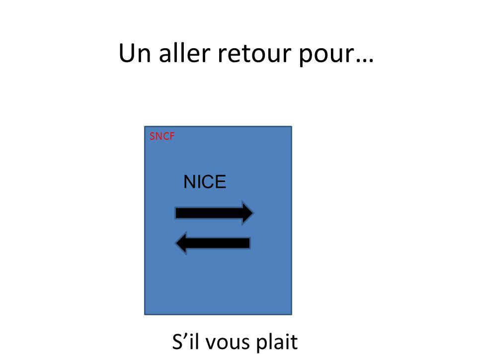 SNCF NICE Un aller retour pour… Sil vous plait