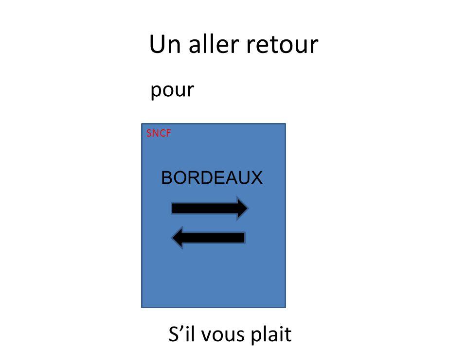Un aller retour SNCF BORDEAUX Sil vous plait pour