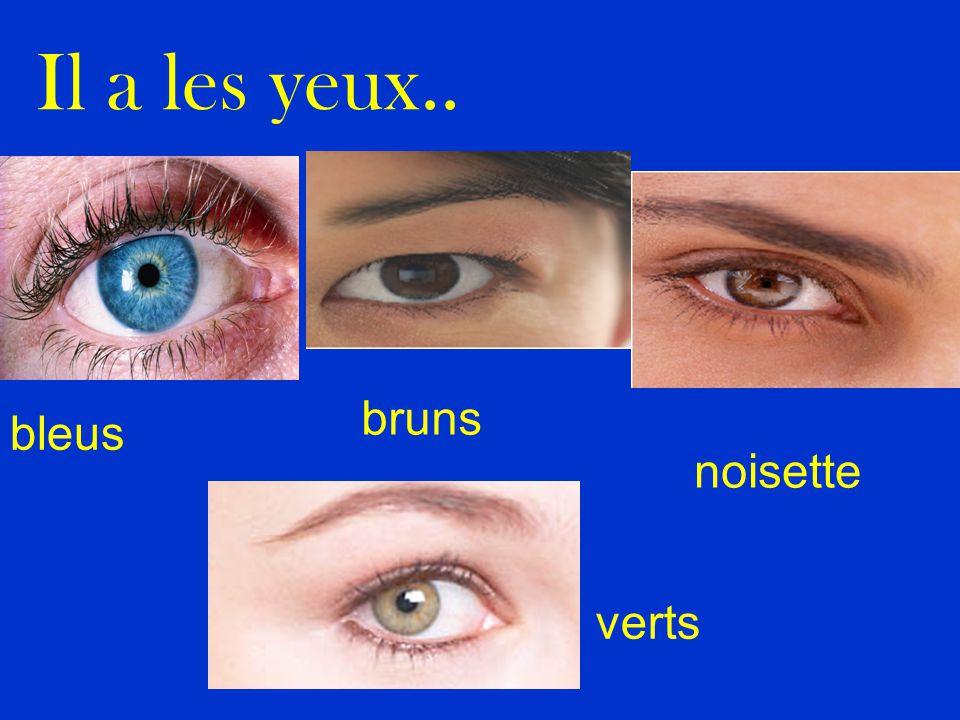 Il a les yeux.. bleus bruns noisette verts