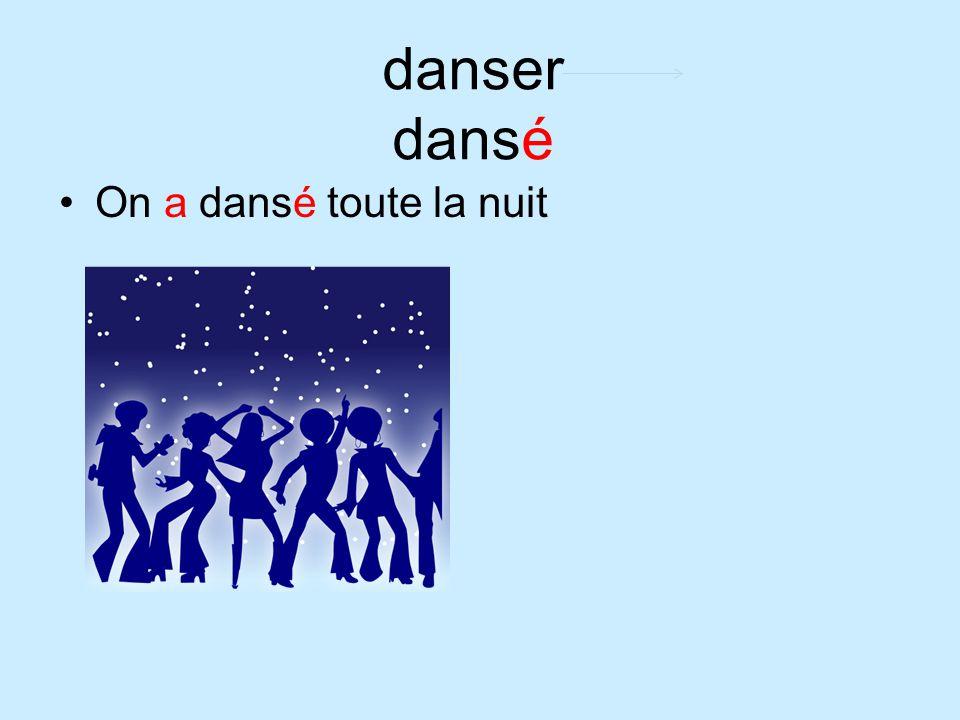 danser dansé On a dansé toute la nuit