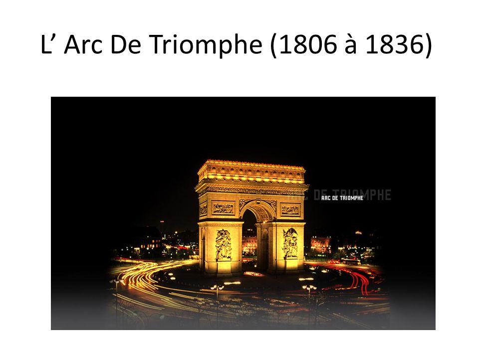 L Arc De Triomphe (1806 à 1836)
