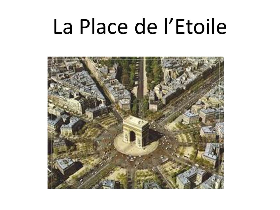 La Place de lEtoile