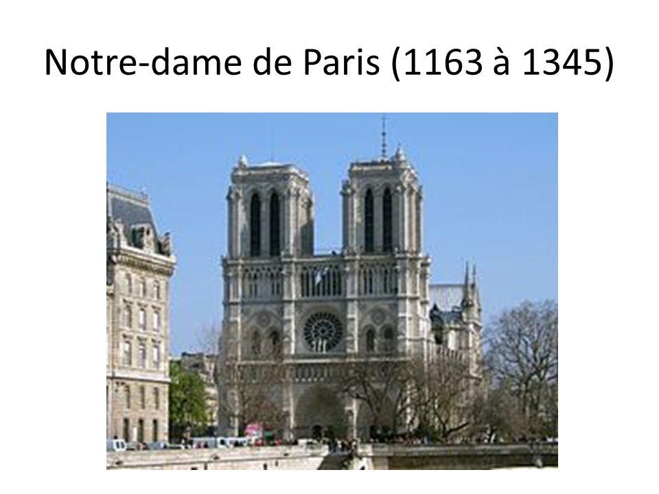 Notre-dame de Paris (1163 à 1345)