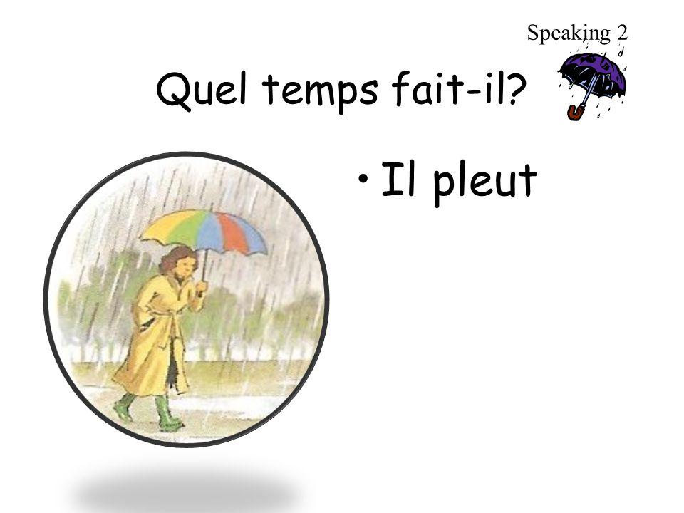 Quel temps fait-il? Il pleut Speaking 2
